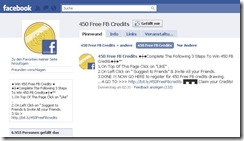 Facebook I 450 Free FB Credits