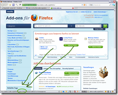 Mozilla Add-on Seite