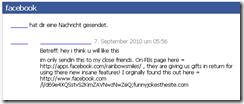 FB-Nachricht rainbowsmiles
