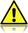 DIN 4844-2 Warnung vor einer Gefahrenstelle