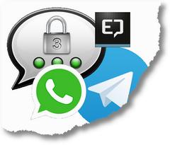 Moderne Messenger-Vierfaltigkeit