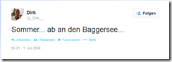 2008-07-01 - Mein erster Tweet